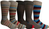 Yacht&Smith 5 Pairs of Mens Dress Socks, Colorful Fun Pattern Design, Casual (Assorted K) - Mens Dress Sock