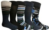 Yacht&Smith 5 Pairs of Mens Dress Socks, Colorful Fun Pattern Design, Casual (Assorted R) - Mens Dress Sock