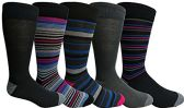 Yacht&Smith 5 Pairs of Mens Dress Socks, Colorful Fun Pattern Design, Casual (Assorted F) - Mens Dress Sock