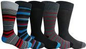 Yacht&Smith 5 Pairs of Mens Dress Socks, Colorful Fun Pattern Design, Casual (Assorted H) - Mens Dress Sock
