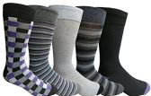 Yacht&Smith 5 Pairs of Mens Dress Socks, Colorful Fun Pattern Design, Casual (Assorted N) - Mens Dress Sock