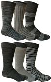 6 Pairs of Yacht&Smith Dress Socks, Colorful Patterned Assorted Styles (Pack B) - Mens Dress Sock