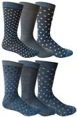 6 Pairs of Yacht&Smith Dress Socks, Colorful Patterned Assorted Styles (Pack C) - Mens Dress Sock