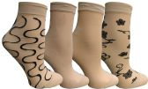 4 Pairs of Yacht&Smith Fisnet Ankle Socks, Mesh Patterned Anklet Sock (Pack F) - Womens Ankle Sock