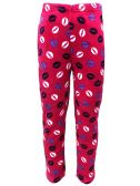 Yacht & Smith Women's Butter Soft Fleece Fuzzy Lounge Pants One Size Lips Print (Lips Print) - Women's Pajamas and Sleepwear