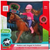 12 Units of DOLL AND HORSE PLAY SET IN WINDOW BOX - Dolls