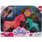 24 Units of RAINBOW PONY SET WITH ACCESSORIES IN WINDOW BOX ASSORTED - Dolls