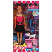 24 Units of STACY DOLL WITH PETS AND ACCESSORIES IN WINDOW BOX - Dolls