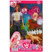 24 Units of BENDABLE DOLL WITH PETS & ACCESSORIES IN WINDOW BOX - Dolls