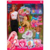 24 Units of EMILY DOLL WITH MINI DOLL PETS AND ACCESSORIES IN WINDOW BOX - Dolls