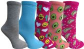Yacht&Smith 5 Pairs of Womens Crew Socks, Fun Colorful Hip Patterned Everyday Sock (Color Prints C) - Store