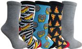 Yacht&Smith 5 Pairs of Womens Crew Socks, Fun Colorful Hip Patterned Everyday Sock (Color Prints D) - Store