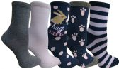 Yacht&Smith 5 Pairs of Womens Crew Socks, Fun Colorful Hip Patterned Everyday Sock (Color Prints K) - Store
