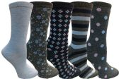 Yacht&Smith 5 Pairs of Womens Crew Socks, Fun Colorful Hip Patterned Everyday Sock (Soft Patterns D) - Store