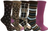 Yacht&Smith 5 Pairs of Womens Crew Socks, Fun Colorful Hip Patterned Everyday Sock (Soft Patterns E) - Store
