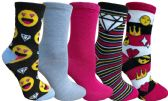 Yacht&Smith 5 Pairs of Womens Crew Socks, Fun Colorful Hip Patterned Everyday Sock (Color Prints A) - Store