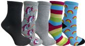 Yacht&Smith 5 Pairs of Womens Crew Socks, Fun Colorful Hip Patterned Everyday Sock (Color Prints B) - Store