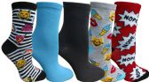 Yacht&Smith 5 Pairs of Womens Crew Socks, Fun Colorful Hip Patterned Everyday Sock (Color Prints F) - Store