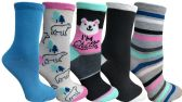 Yacht&Smith 5 Pairs of Womens Crew Socks, Fun Colorful Hip Patterned Everyday Sock (Color Prints G) - Store