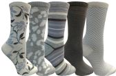 Yacht&Smith 5 Pairs of Womens Crew Socks, Fun Colorful Hip Patterned Everyday Sock (Soft Patterns A) - Store