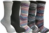 Title: Yacht&Smith 5 Pairs of Womens Crew Socks, Fun Colorful Hip Patterned Everyday Sock (Pack I) - Store