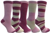 Yacht&Smith 5 Pairs of Womens Crew Socks, Fun Colorful Hip Patterned Everyday Sock (Marled A) - Store