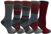 Yacht&Smith 5 Pairs of Womens Crew Socks, Fun Colorful Hip Patterned Everyday Sock (Marled B) - Store
