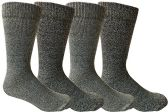 4 Units of Mens Merino Wool Socks, Twisted Yarn, Comfort Knit, Premium Moisture Wicking Wool - Mens Thermal Sock