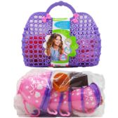 24 Units of TEA PLAY SET IN PEGABLE PURSE - Girls Toys