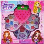 36 Units of THREE LEVEL STRAWBERRY SHAPE MAKE UP BEAUTY PLAYSET - Girls Toys