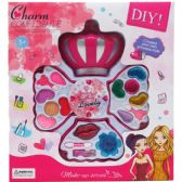 24 Units of THREE LEVEL CROWN SHAPE TOY MAKE UP IN WINDOW BOX - Girls Toys