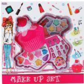 12 Units of THREE LEVEL CUPCAKE SHAPE TOY MAKE UP IN WINDOW BOX - Girls Toys