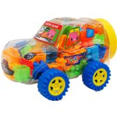 24 Units of ASSORTED COLORED BLOCKS IN CAR - Light Up Toys