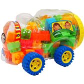 18 Units of ASSORTED COLORED BLOCKS IN TRAIN CAR - Light Up Toys