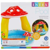 6 Units of MUSHROOM BABY POOL IN COLOR BOX - Summer Toys