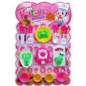 24 Units of FULL KITCHEN PLAY SET ON BLISTER CARD - Girls Toys