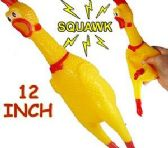 60 Units of Rubber Shrilling Chickens - Light Up Toys