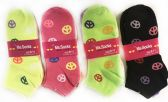 36 Units of Women's Peace Sign Ankle Socks - Womens Ankle Sock