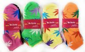 36 Units of Women's Marijuana Assorted color Ankle sock - Womens Ankle Sock