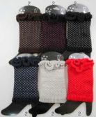 36 Units of Knitted Boot Toppers Leg Warmers with Dots Assorted - Arm & Leg Warmers