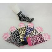 120 Units of Womens Leopard Print Warm Fuzzy Socks - Womens Fuzzy Socks - Womens Fuzzy Socks