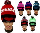 "24 Units of ""Love"" Beanie Hat With Pom Pom - Winter Beanie Hats"