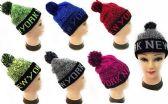 """24 Units of """"New York"""" Beanie Hat With Pom Pom - Winter Beanie Hats"""