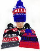 36 Units of ''Dallas'' Winter Knitted Beanie Hat - Winter Beanie Hats