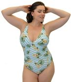 Yacht & Smith Plus Size Womens Swimsuit, Fashion One Piece Bathing Suit Tank (Island, 3X) - Womens Swimwear