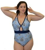 Yacht & Smith Plus Size Womens Swimsuit, Fashion One Piece Bathing Suit Tank (Floral, 1X) - Womens Swimwear