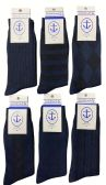 Yacht&Smith 6 Pairs Mens Dress Socks, Textured Solid Colors, Premium Knit (6 Pairs Navy) - Mens Dress Sock
