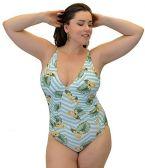 Yacht & Smith Plus Size Womens Swimsuit, Fashion One Piece Bathing Suit Tank (Island, 1X) - Womens Swimwear