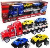 12 Units of Three Piece Friction Powered Transporter Trucks - Cars, Planes, Trains & Bikes