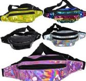 24 Units of Waist Bag Casual Bag Holographic Fanny Pack - Fanny Pack